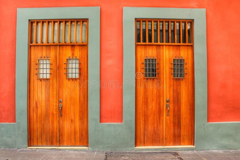 Drzwi San Juan Puerto Rico fotografia royalty free