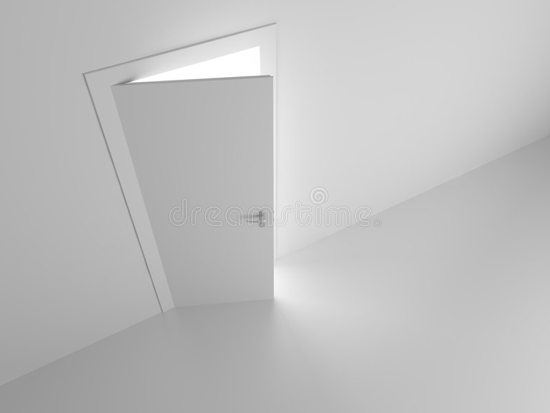 drzwi sen ilustracja wektor