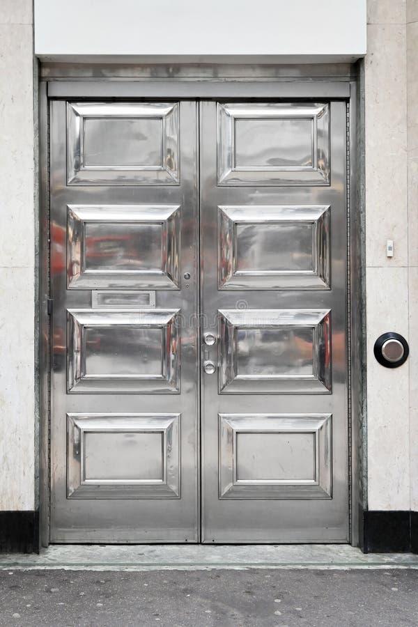 drzwi srebro obraz royalty free