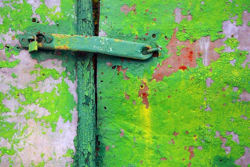 drzwi stary zielony obraz stock