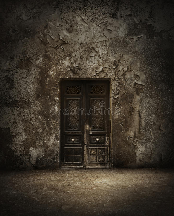 drzwi tajemniczy zdjęcie stock