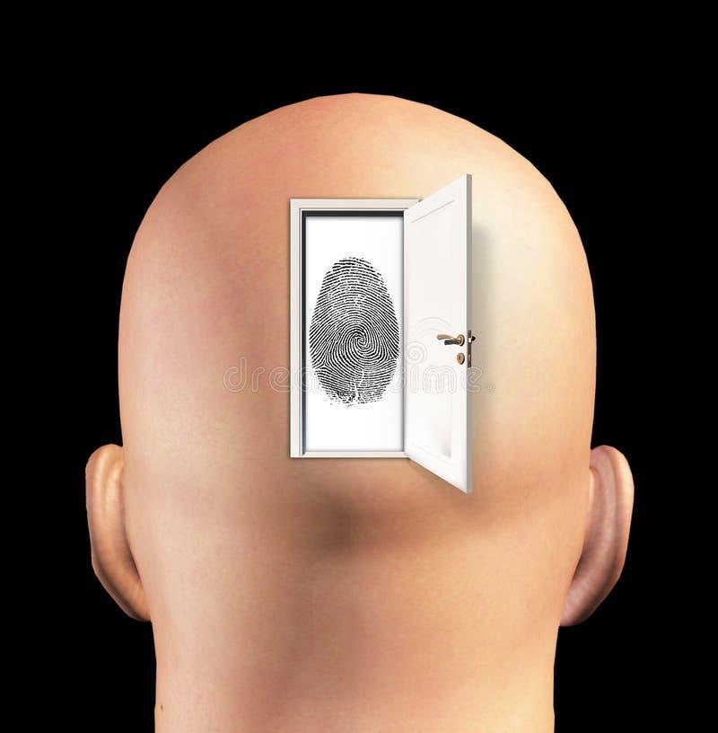 Drzwi tożsamość ilustracja wektor