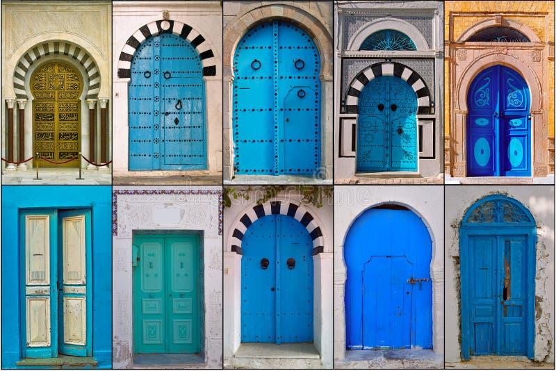 Drzwi Tunezja zdjęcie royalty free