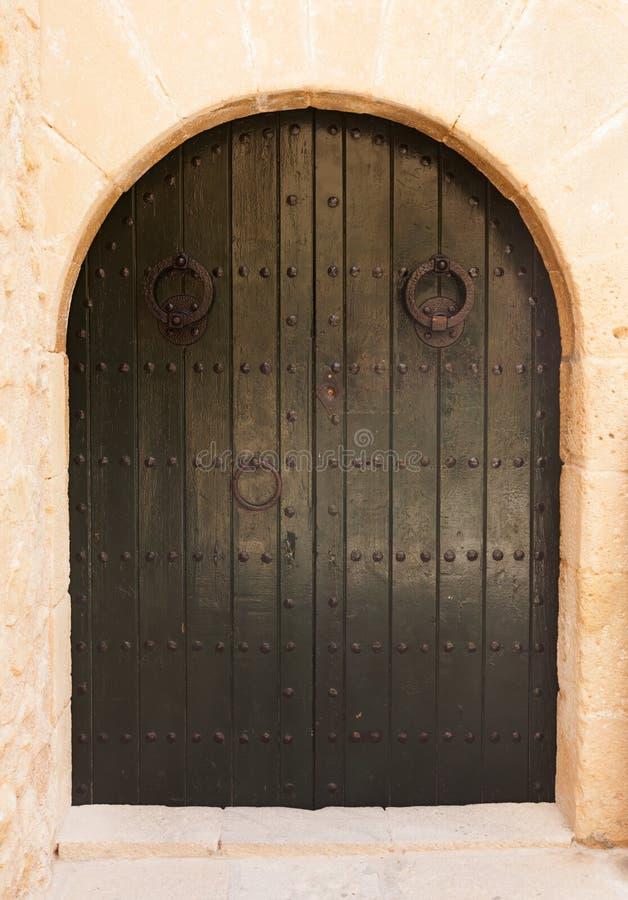 Drzwi w łuku obraz stock