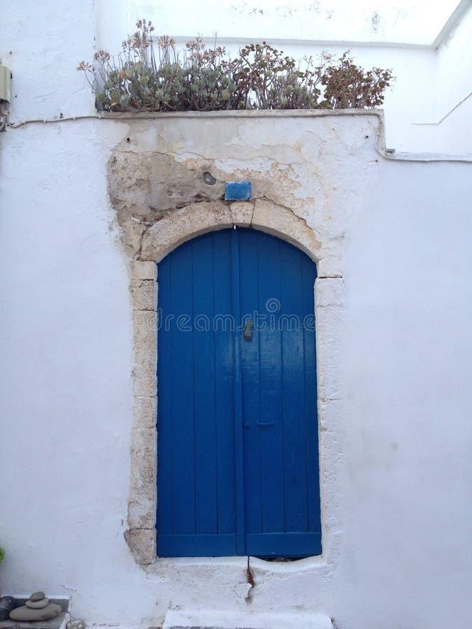 Drzwi w Kythera fotografia royalty free