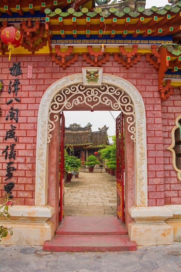 Drzwi w Phuoc Kien zgromadzenie Hall fotografia royalty free