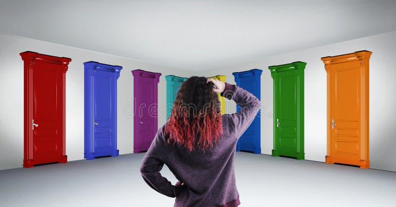 Drzwi wyborowi zdjęcia royalty free