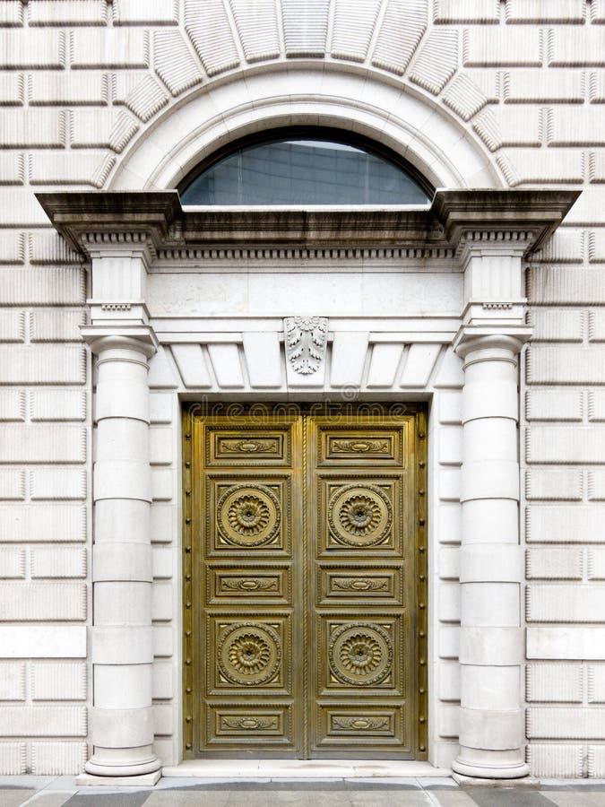 drzwi złoty zdjęcie stock