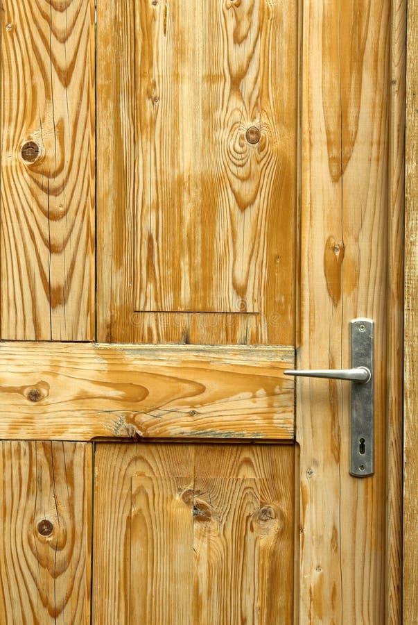 drzwi z drewna obraz royalty free