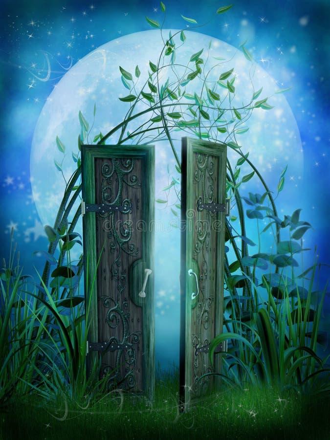 drzwiowa bajka ilustracja wektor