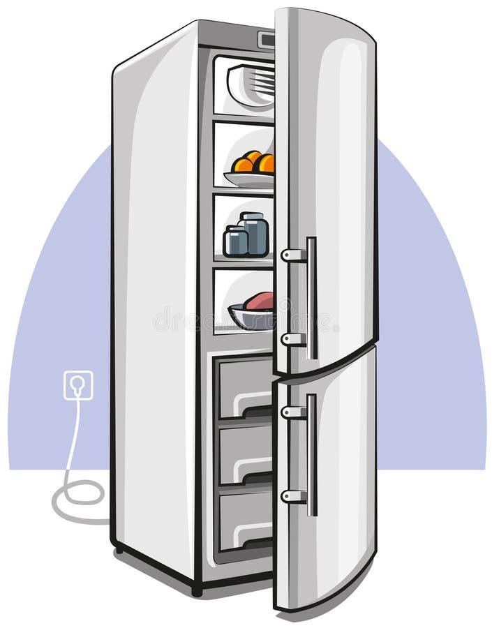drzwiowa chłodziarka dwa ilustracji