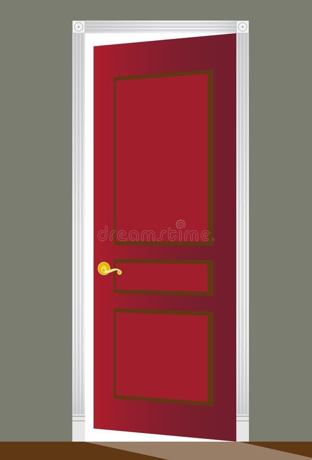 drzwiowa czerwień ilustracji