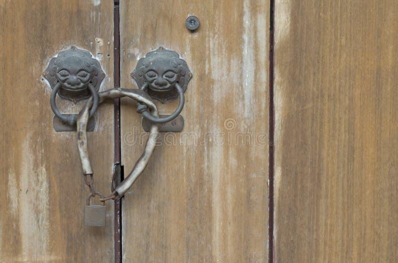 drzwiowego kędziorka stary drewno obrazy royalty free