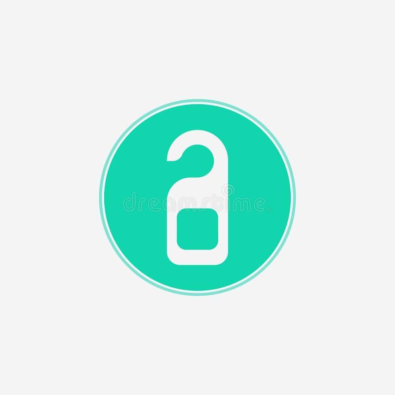 Drzwiowego wieszaka ikony znaka wektorowy symbol ilustracja wektor