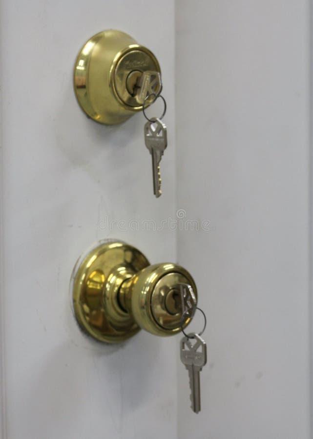 drzwiowej gałeczki kędziorek zdjęcie royalty free