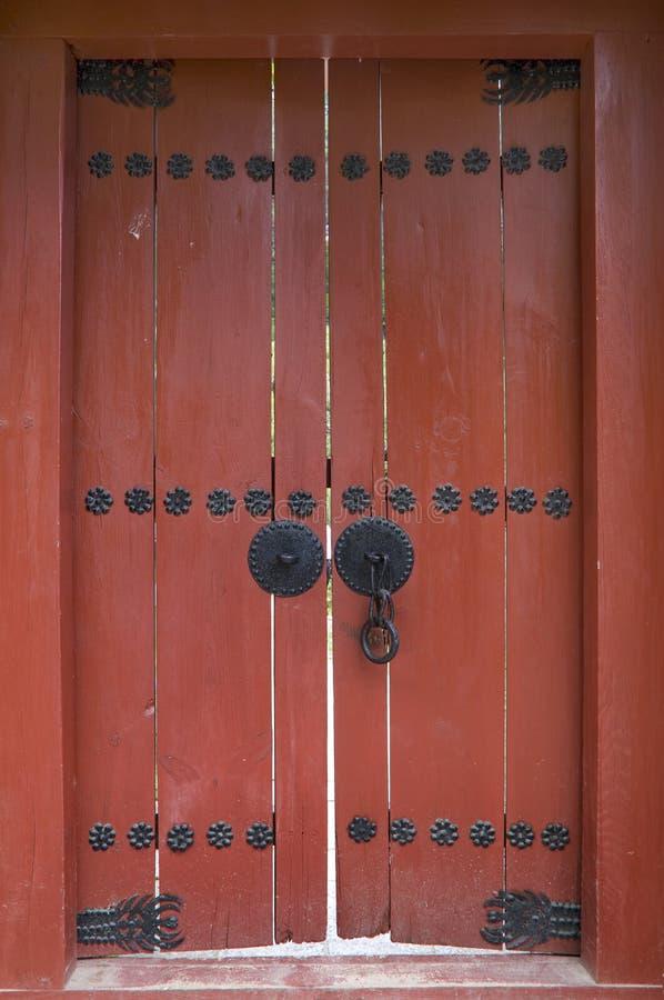 drzwiowi Korea czerwieni południe zdjęcie royalty free