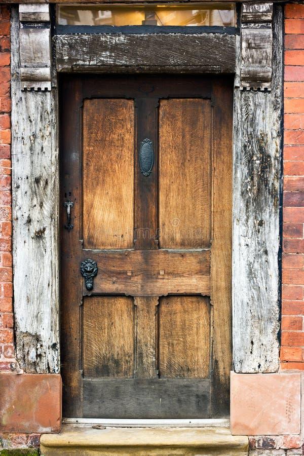 drzwiowy dębowy stary zdjęcia stock