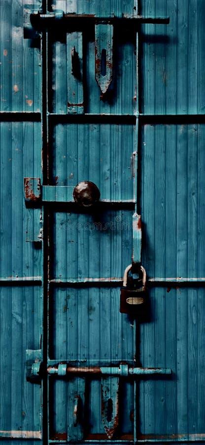 Drzwiowy kędziorek otwiera tapetę obraz stock