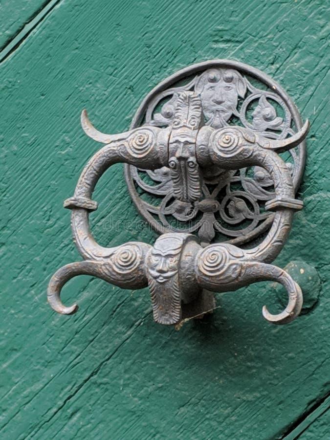 Drzwiowy knocker w Bavaria zdjęcie royalty free