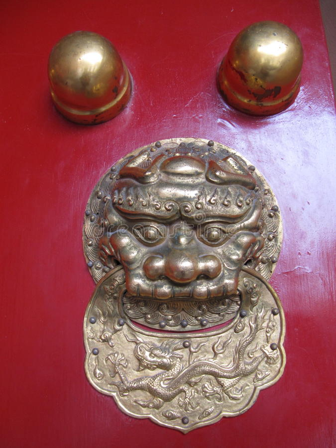 drzwiowy lew obraz royalty free
