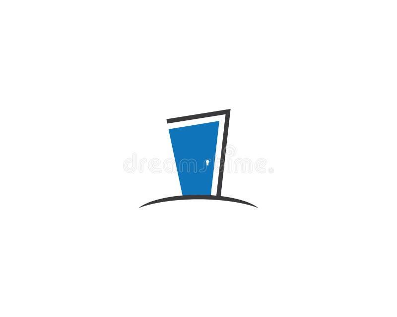 Drzwiowy logo szablon ilustracja wektor
