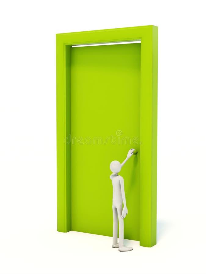 drzwiowy mężczyzna royalty ilustracja