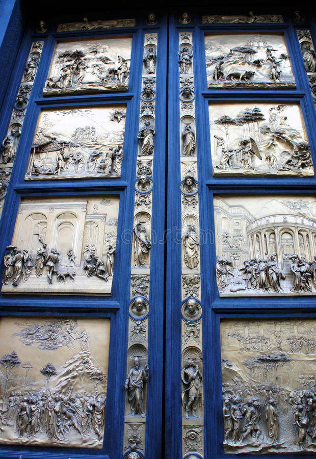 Download Drzwiowy Panelsof Duomo Baptysterium, Florencja, Włochy Obraz Stock - Obraz: 33191719
