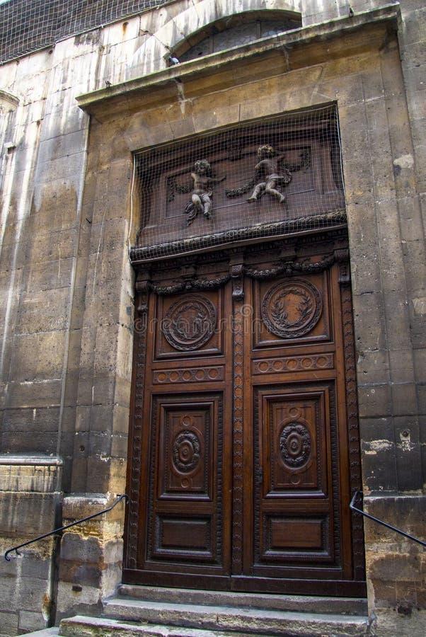 Drzwiowy Paryski Francja zdjęcie stock
