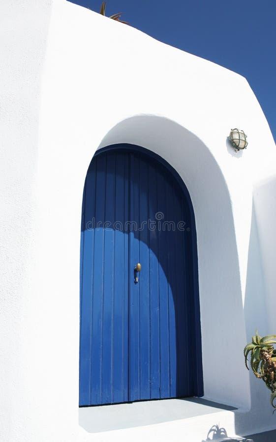 drzwiowy santorini zdjęcia royalty free