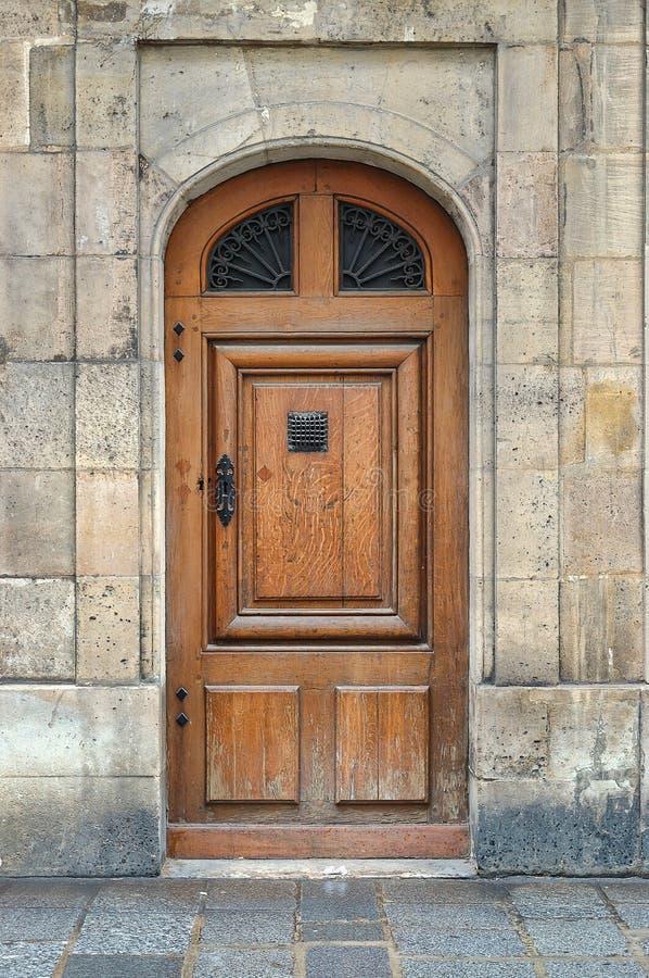 drzwiowy stary drewniany fotografia royalty free