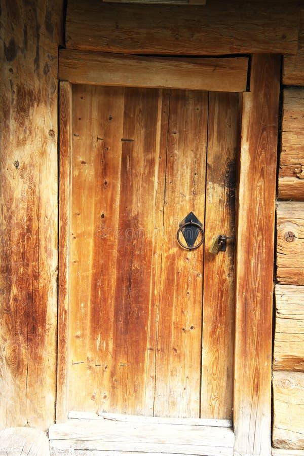 drzwiowy stary drewniany zdjęcie stock