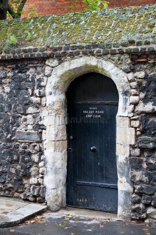drzwiowy stary drewniany obrazy stock