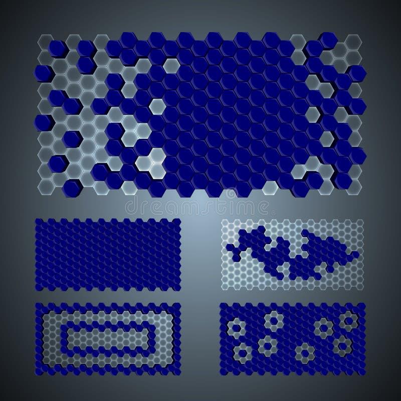 3Ds六角形样式 向量例证