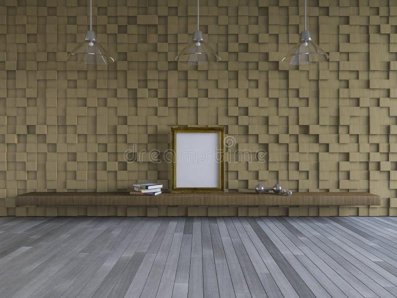 3Ds内部居住的室 图库摄影