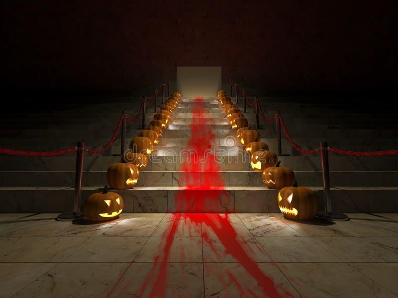 3ds красный ковер хеллоуин иллюстрация вектора