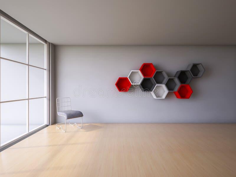 3Ds представляют интерьер бесплатная иллюстрация