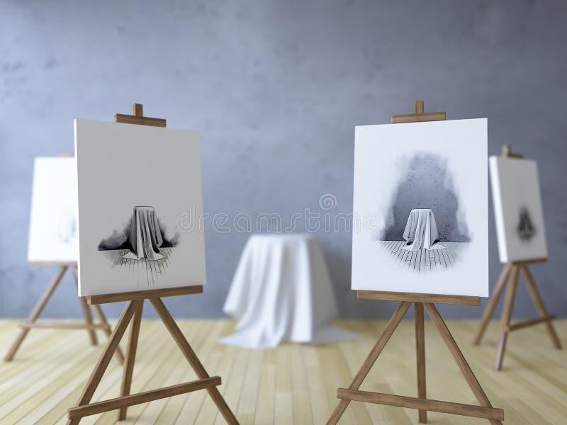 3Ds rindió la imagen de los trípodes para pintar libre illustration