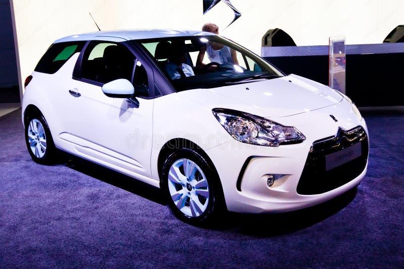 DS3 bianco di Citroen dell'automobile immagine stock