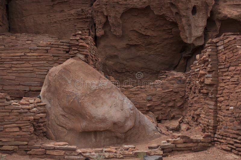 Dsc_0089 Desert - Southwest USA. Wall made of brick in desert - Southwest USA royalty free stock photos