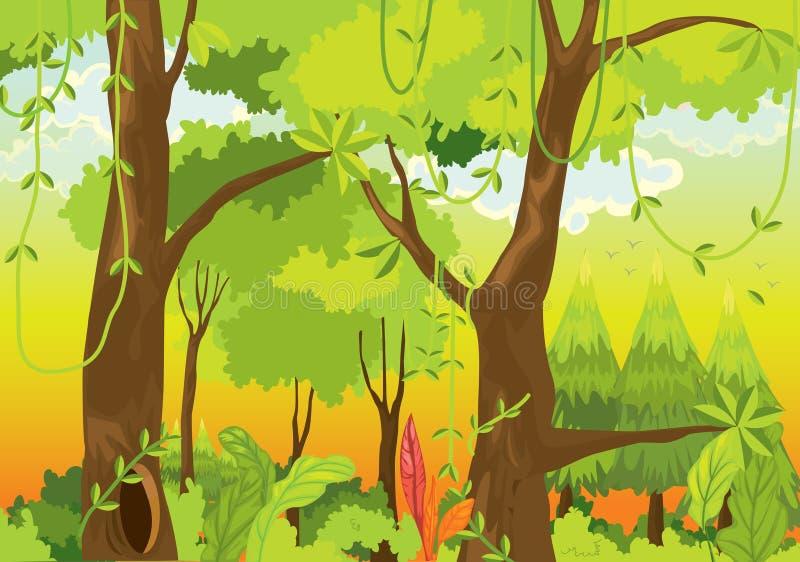 Dschungel vektor abbildung