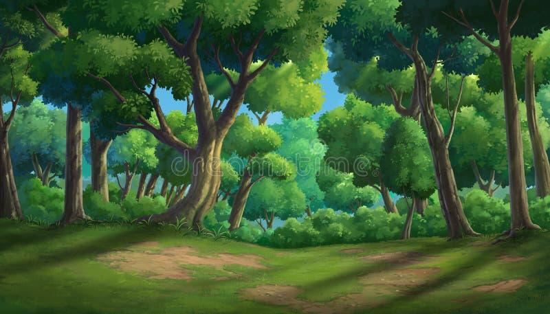 Dschungel im Morring lizenzfreie abbildung