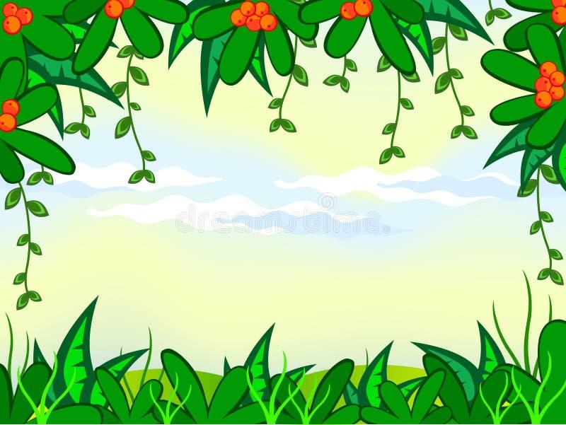 Dschungelanlagen stockbild
