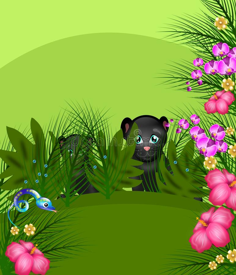 Dschungelpanther stock abbildung