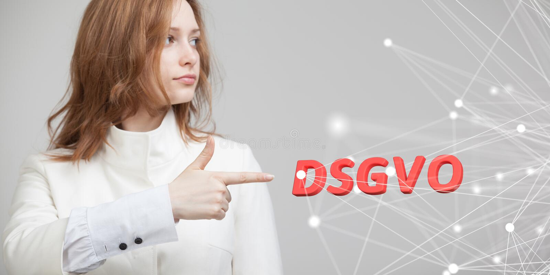 DSGVO, γερμανική εκδοχή GDPR, εικόνα έννοιας Γενικός κανονισμός προστασίας δεδομένων, προστασία των προσωπικών στοιχείων Νέος στοκ εικόνες