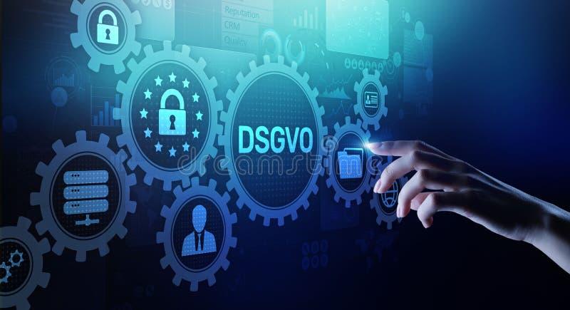 DSGVO, concepto cibernético de la aislamiento de la información personal de la seguridad de la ley europea de la regulación de la imagenes de archivo