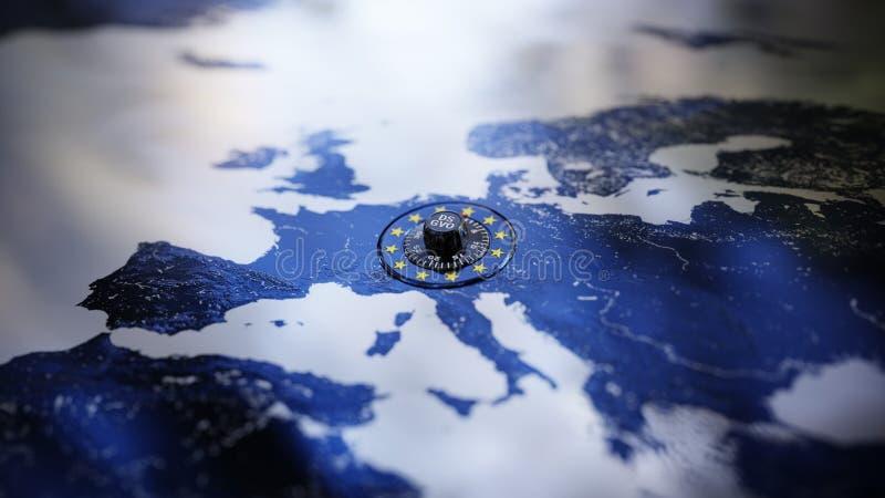 DSGVO-Gegevensbescherminggdpr Privacy Europa royalty-vrije stock afbeelding