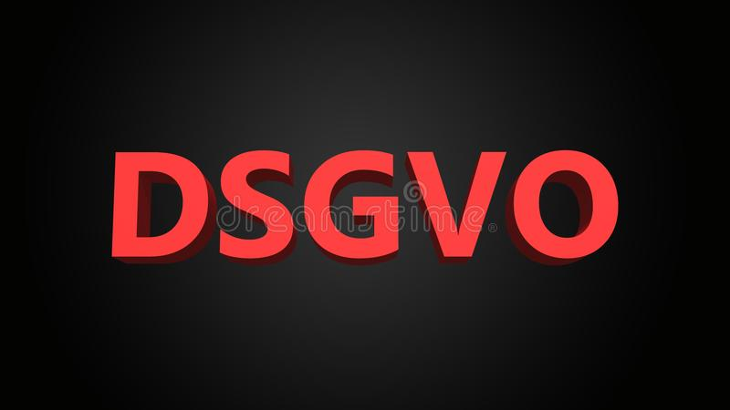 DSGVO is the German abbreviation for general data protection regulation GDPR royalty free illustration