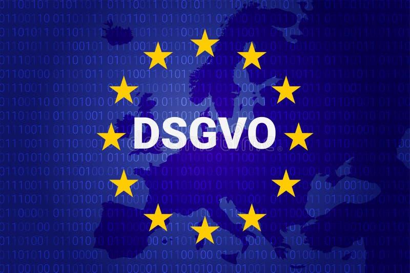 Dsgvo - german Datenschutz-Grundverordnung. gdpr - General Data Protection Regulation. vector illustration royalty free illustration