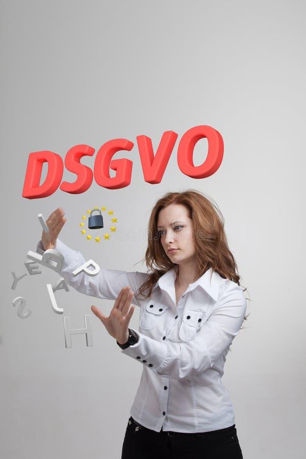 DSGVO, versión alemana de GDPR, imagen del concepto Regulación general de la protección de datos, protección de datos personales  foto de archivo