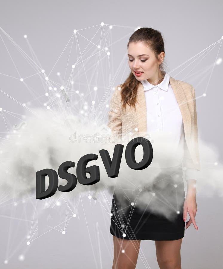 DSGVO, versión alemana de GDPR, imagen del concepto Regulación general de la protección de datos, protección de datos personales  fotos de archivo